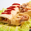 Doner kebab on a plate — Stock Photo