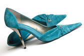 Chaussures femmes cyan — Photo