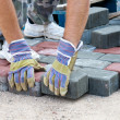 Stock Photo: Brick paver