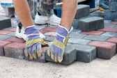 Brick paver — Stock Photo