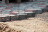 Installation of Pavers — Stock Photo
