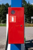 Red emergency box — Stock Photo