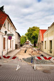 Street reconstruction — Foto Stock