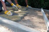 Brick pavers — Stock Photo