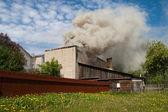 Fire and smoke — Stockfoto