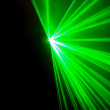 Royalty-Free Stock Photo: Real green laser lights