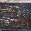 Metal handprint — Stock Photo