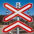 Rural railroad crossing sign — Stock Photo