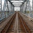 Railway bridge and rails — Stock Photo