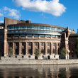 Riksdagen (Swedish Parliament) in Stockholm. - Stock Photo