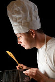 Online Chef — Stock Photo