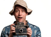 Insant camera man — Stock Photo