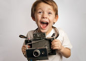 Insant camera kid — Stock Photo