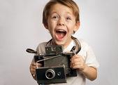 Insant camera kid — Stock Photo