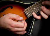 Mandolin hands — Stock Photo