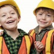 Little construction workers - Stock Photo