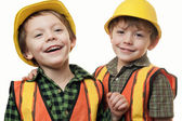 Little construction workers — Stock Photo