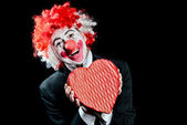 Clown Date love — Stock Photo