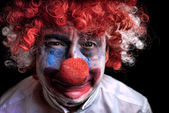 Crying sad clown — Stock Photo