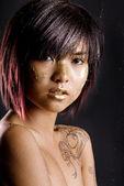 Rosto asiático — Foto Stock