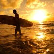 Surfer silhouette — Stock Photo