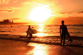 Sunset over beach — Stock Photo