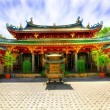 Chinese temple courtyard - Stock Photo