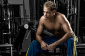 Man resting after workout — Stock Photo