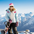 Snowboard girl — Stock Photo