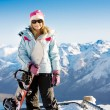 Stock Photo: Snowboard girl