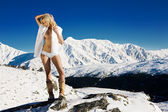 Snow bunny — Stock Photo