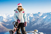 Snowboard girl — Stockfoto