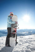 Snowboard girl — Stock Photo