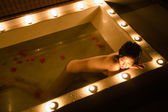 Candlelit bath — Stock Photo