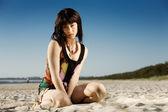 Strand mädchen — Stockfoto