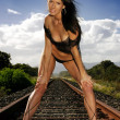 Royalty-Free Stock Photo: Train track lingerie