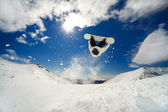Snowboarder backflip — Stock Photo