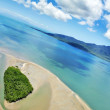 Aerial shot of coastal paradise in northern Australia — Stock Photo