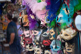 Beatiful Venice masks on a market in Italy — Stock Photo