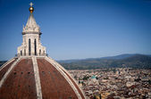 View from Santa Maria del Fiore belfry, Tuscany, Florence, Italy — Stock Photo