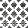 Seamless damask pattern. Black and white. - Stock Vector