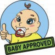 Baby approved vector seal. — Stock Vector #8838779