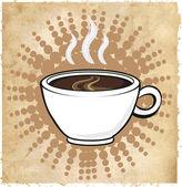 White tea or cofee cup — Stock Vector