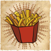French fried — Stock Vector