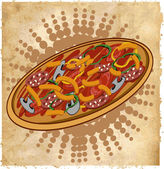 Pizza pictogram — Stockvector