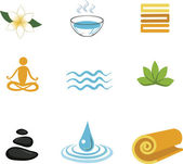 Collection of Zen icons - vector illustration — Stock Vector