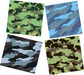 Set of vector camouflage patterns. — Stock Vector