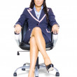 Business Woman On Office Chair At Job Interview - Stock Photo