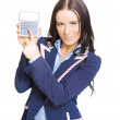 Accountant Pointing To Calculator With Copyspace - Stockfoto