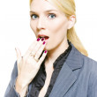 Surprised Woman — Stock Photo #10020010